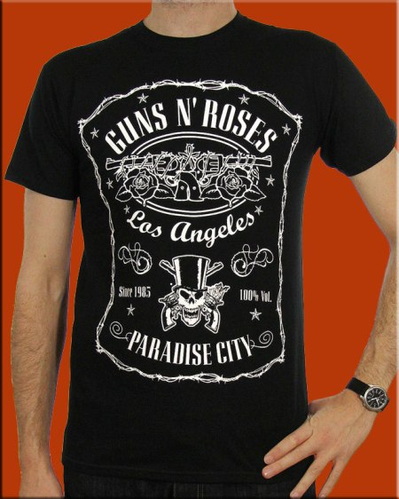 Camiseta-Guns-N-Roses-Paradise-Label